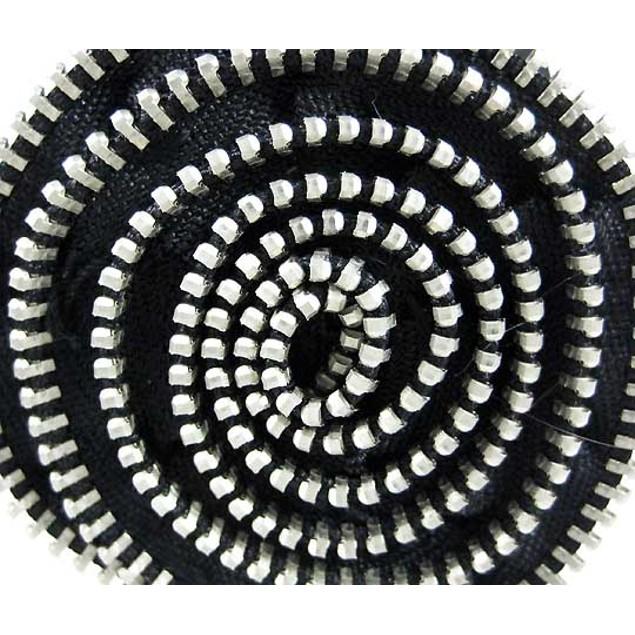 Black Vinyl Zipper Rose Cuff Bracelet