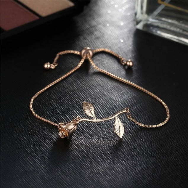18kt Gold Plated Rose Bracelet