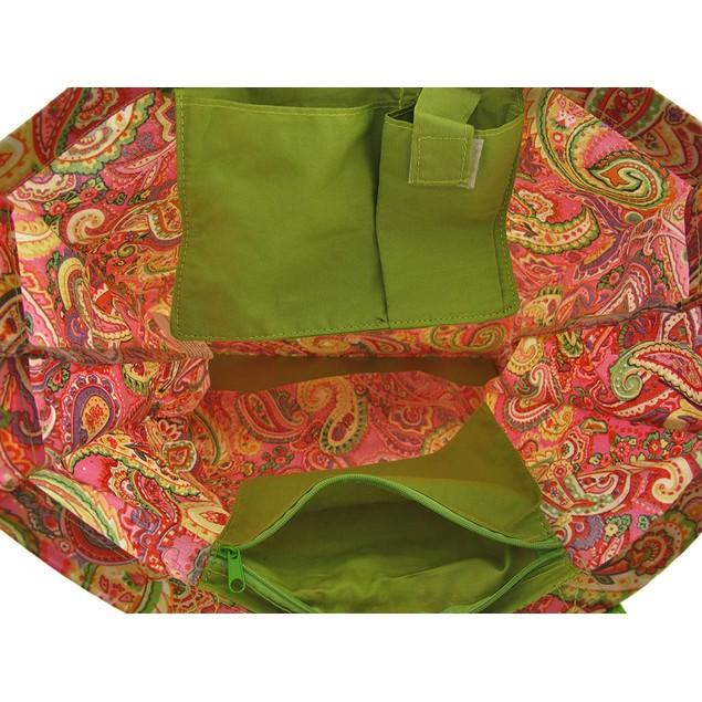 Pink Paris Paisley Tote Bag And Wristlet Set Womens Tote Bags