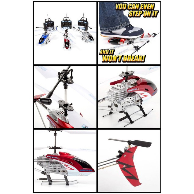 3.5ch Jumbo UNBREAKABLE Indoor/Outdoor Helicopter
