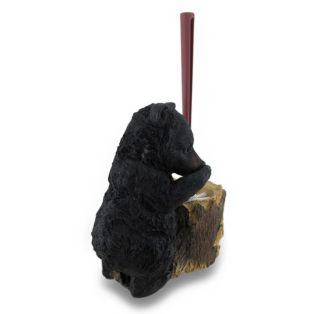 Black Bear Butler Toilet Brush And Holder 2 Piece Toilet Brushes