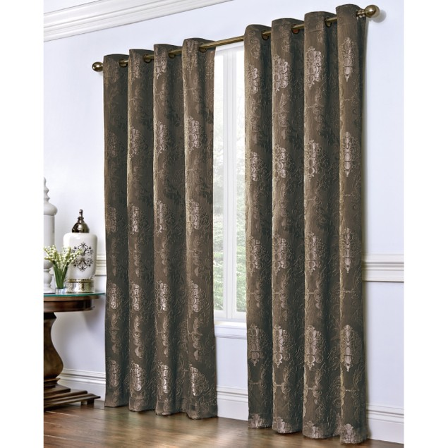 "110""x 84""  Jacquard Grommet Window Panel Pair"
