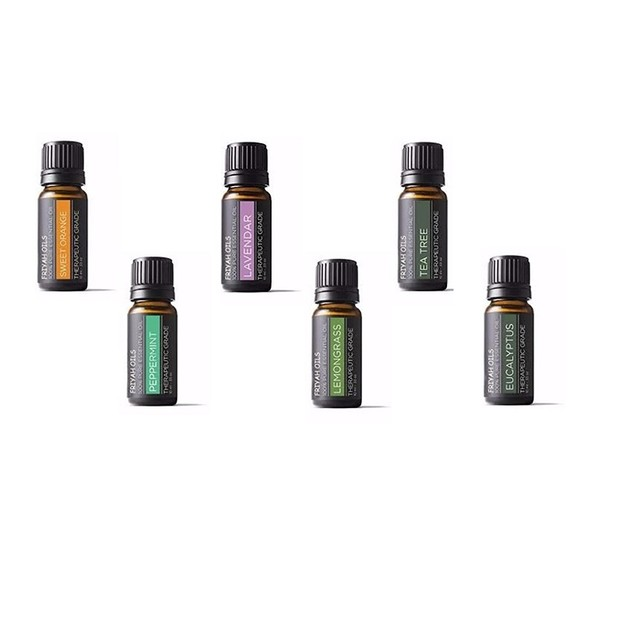 6-Piece Aromatherapy Therapeutic Grade Essential Oil Gift Set