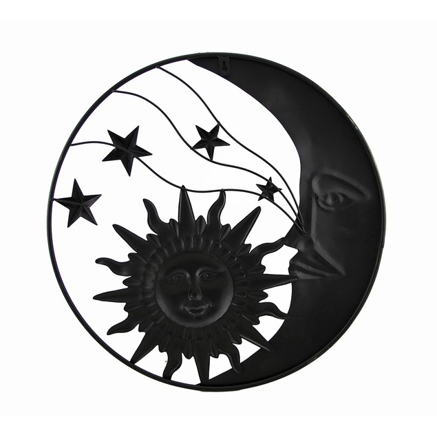 Celestial Metal Moon Sun And Stars Wall Art Wall Sculptures