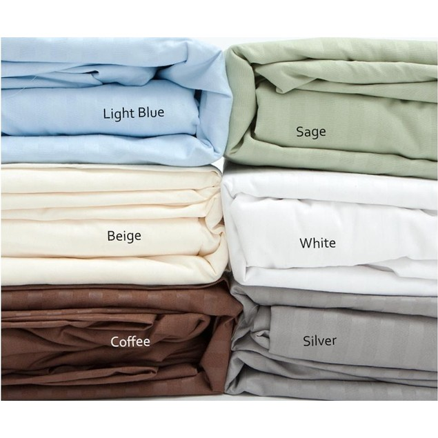 400 Thread Count 100% Cotton Sateen Dobby Sheets