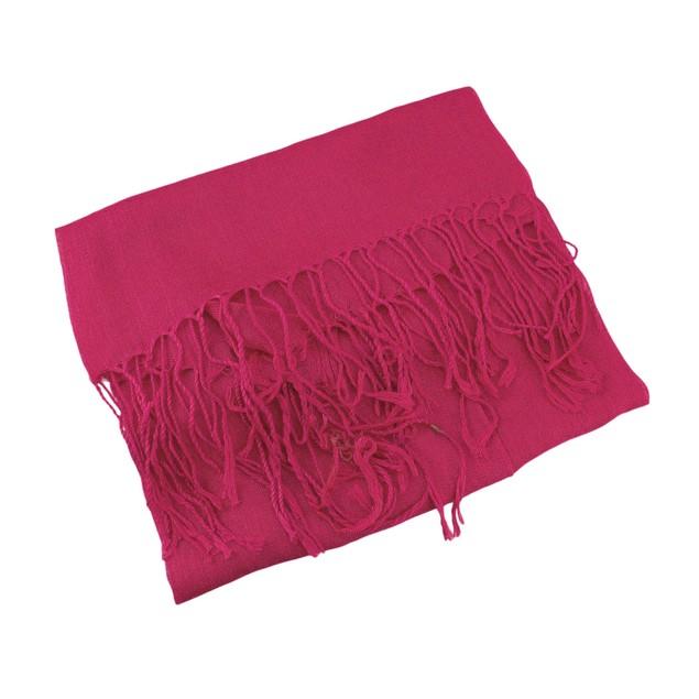 Solid Fuchsia Rayon Lightweight Scarf Womens Fashion Scarves