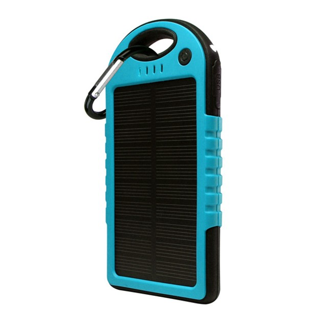 5,000 mAh Water-Resistant Solar Smartphone Charger