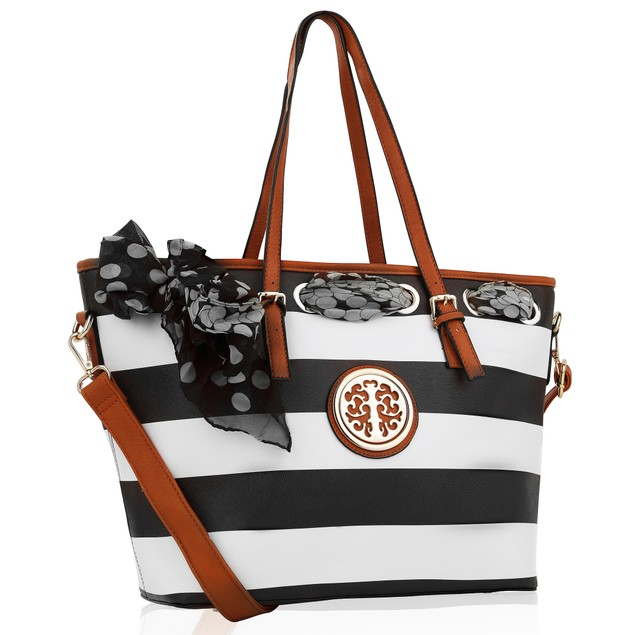 MKF Collection Emblem Beach Tote by Mia K