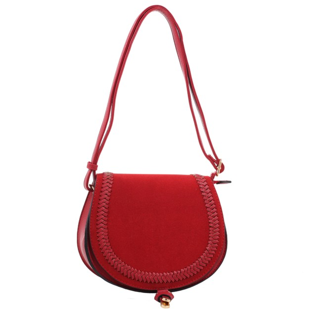 MKF Collection  Simply Elegant Saddle Bag Crossbody