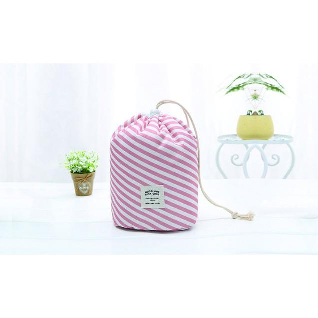 Cylinder Makeup Organizer and Travel Bag
