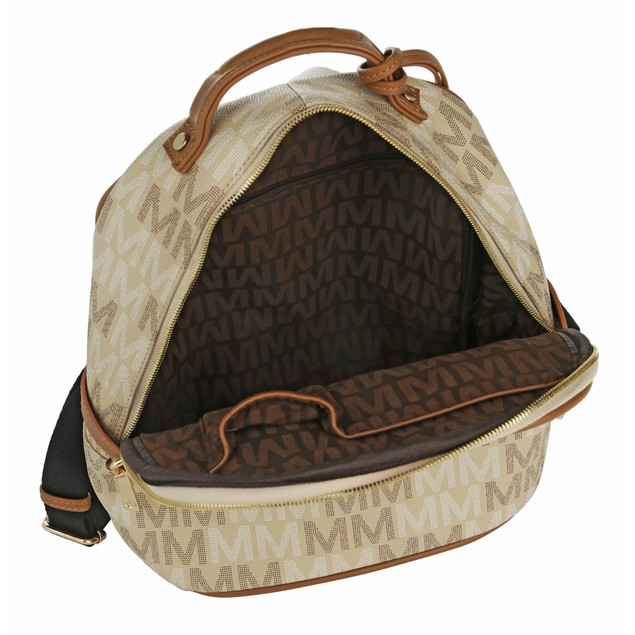 """MKF Collection Cleo Milan """"M"""" Signature Trendy Backpack by Mia K."""