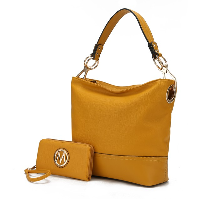 MKF Collection by Mia K. Magnolia Hobo Bag with Wallet