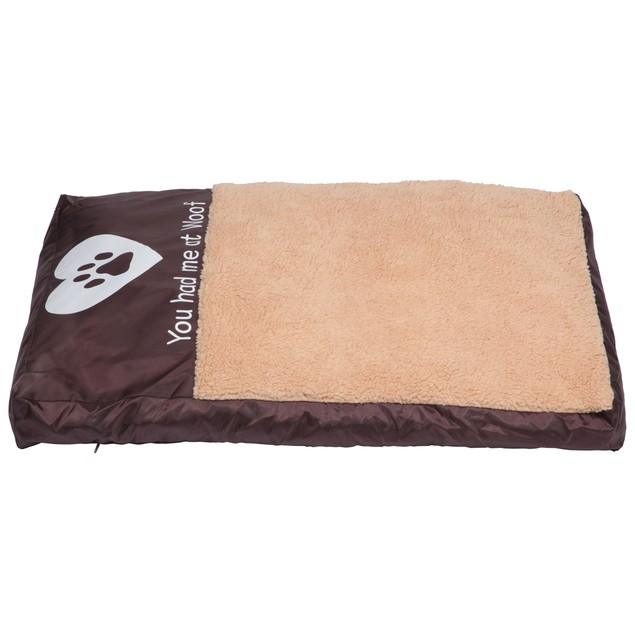 Faux Sheepskin Memory Foam Pet Bed - You Had Me At Woof