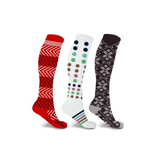 Compression Socks Patterned (3-Pairs)
