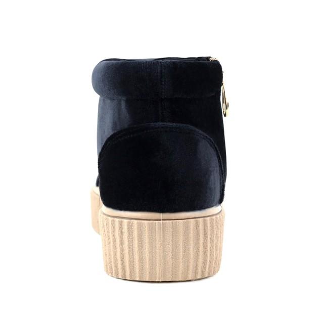 Olivia Miller 'Bellmore' Velvet Side Zip Ribbon Laced Sneakers
