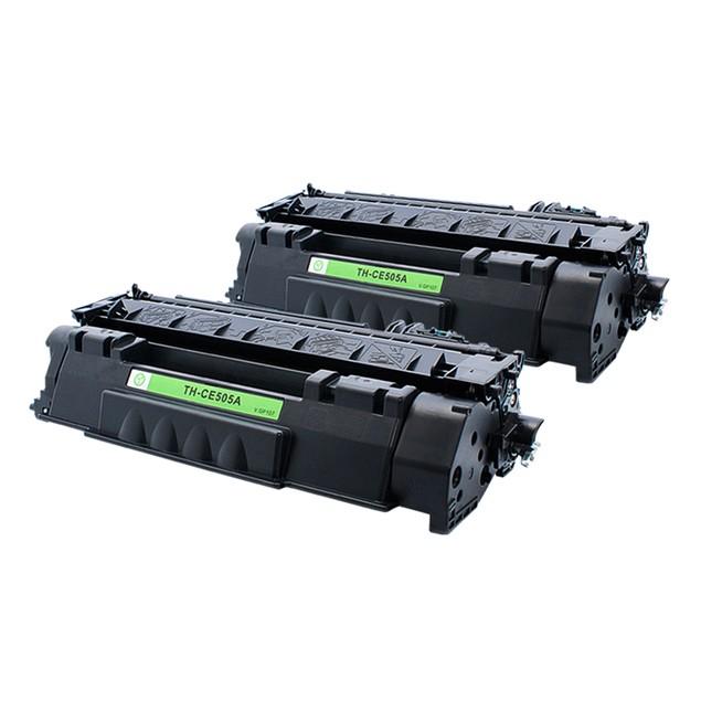 2-Pack HP CE505A Compatible Laser Toner