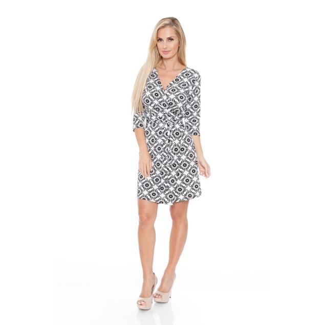 White Mark Women's 'Mariah' Wrap Dress - Batik