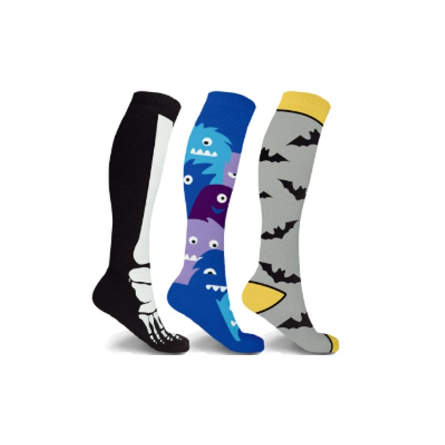 3-Pairs XTF Halloween Fun Knee High Compression Socks