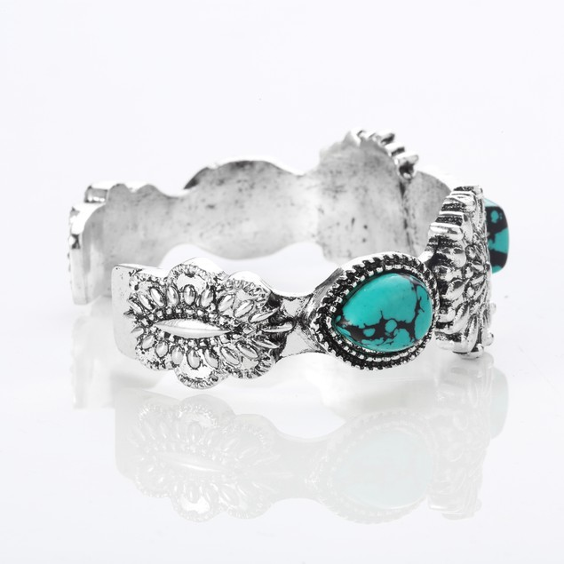 Mystic Southwest Green Turquoise Cuff