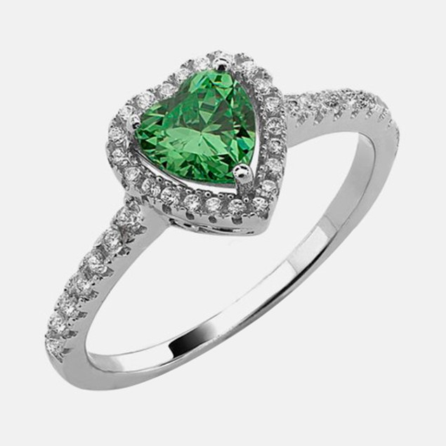 .925 Sterling Silver Birthstone Ring - May