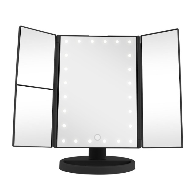 Vivitar Simply Beautiful 24 Led Light Up Trifold Mirror