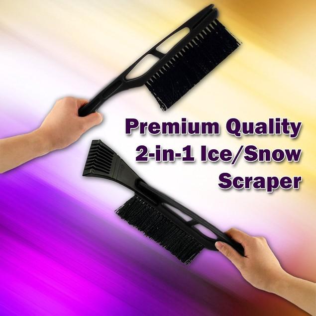 Zone Tech Sturdy Vehicle Ice Snow Scraper Windshield Brush Super Wiper