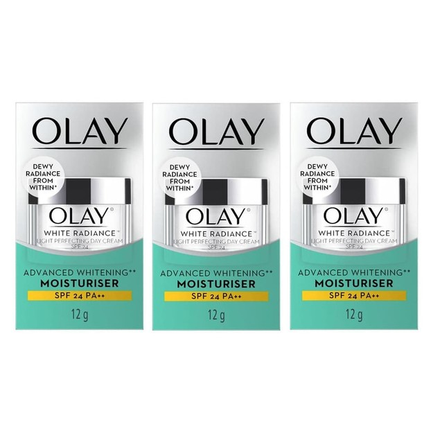 3-Pack Olay White Radiance Light Perfecting Day Cream