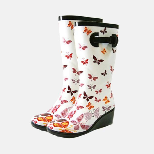 Henry Ferrera Women's Butterfly Wedge Rain Boots