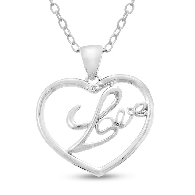 Diamond Love Heart Necklace