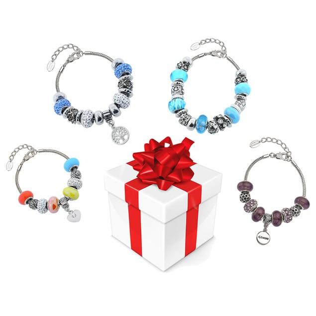 2 Piece Murano Mystery Bracelet Set