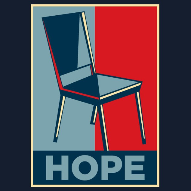 invisible chair obama hope t shirt tanga. Black Bedroom Furniture Sets. Home Design Ideas
