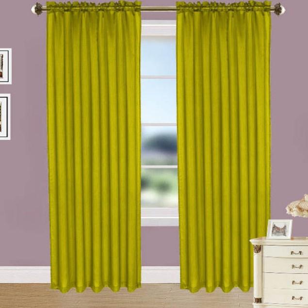 4-Pack: Elegant Curtain Panels with Rod Pocket