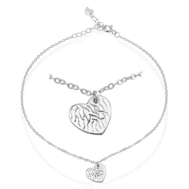 Sterling Silver 2-In-1 Anklet/Charm Bracelet