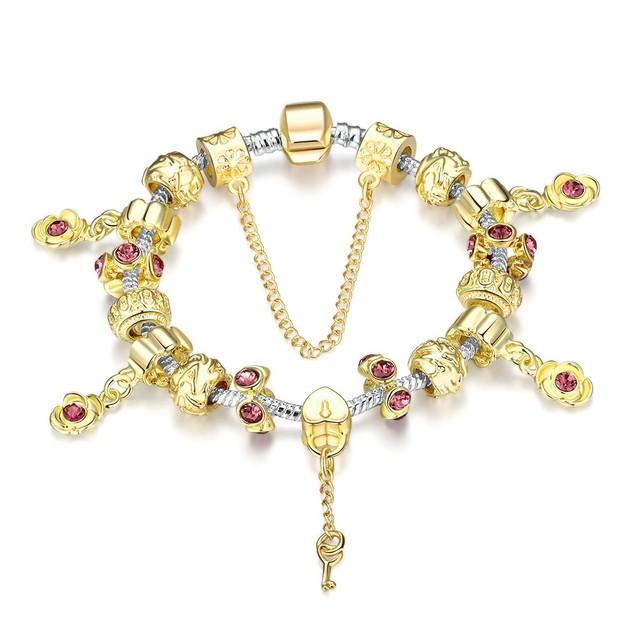 Golden Ruby Designer Inspired Bracelet