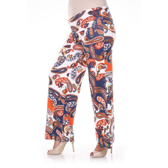 Plus Size Paisley Printed Palazzo Pants