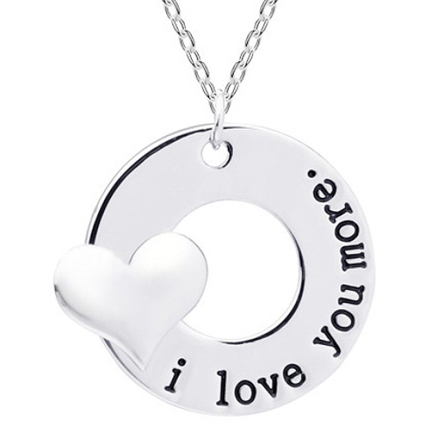 I Love You More Pendant Necklace