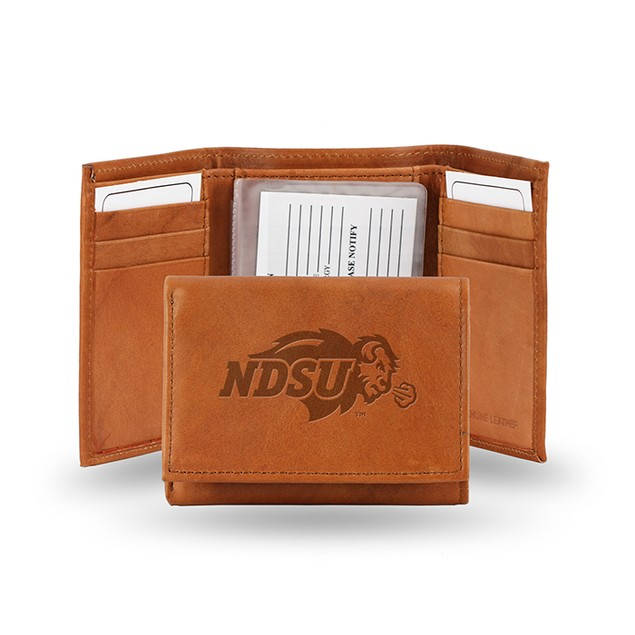 North Dakota State Leather Manmade Trifold