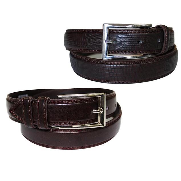 2-Pack Men's Genuine Leather Belts