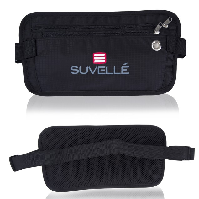 Suvelle RFID Blocking Money Waist Pouch Wallet