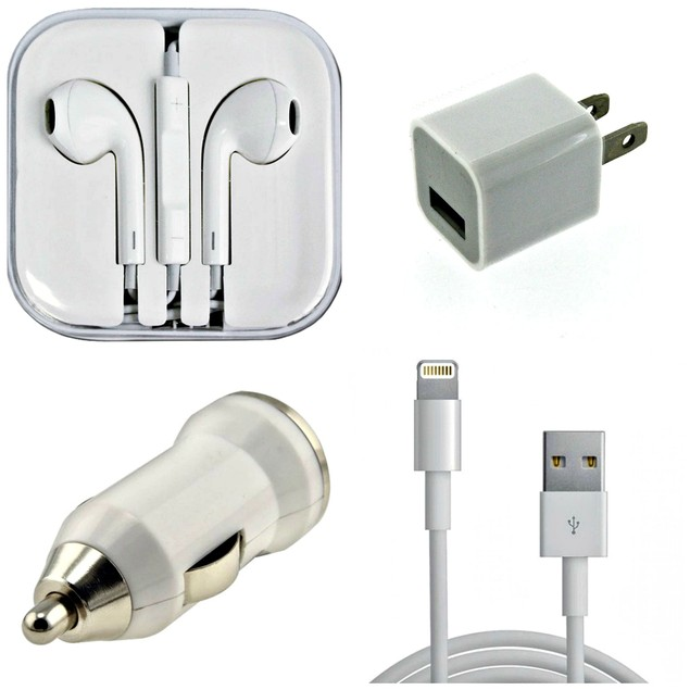 4 Piece Set: iPhone and Samsung Accessory Bundle Set