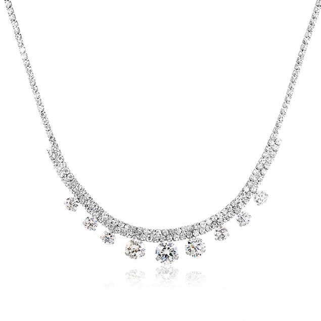 Cubic Zirconia White Gold Plated 3-Piece Jewelry Set - 2 Styles