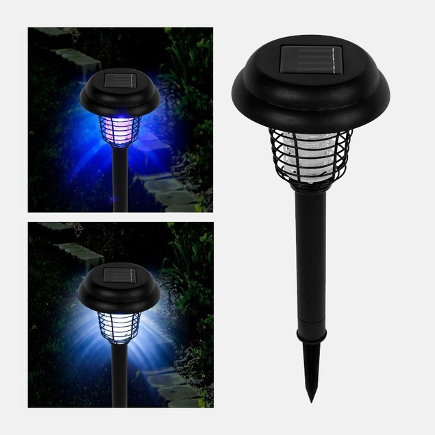 Pure Garden Solar Bug Zapper LED and UV Light
