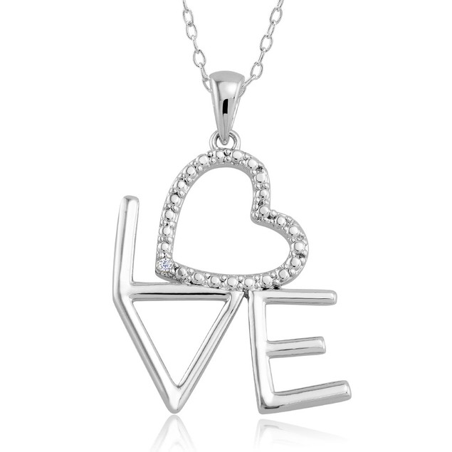 1/10 CTW Diamond Accent Necklace - Written Love