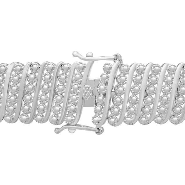 Six Row Diamond Bracelet 1.92cttw
