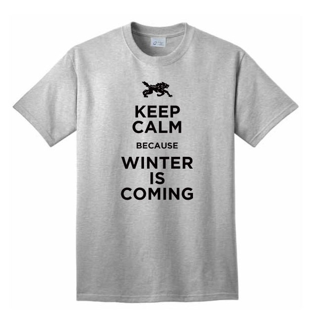 Keep Calm Because Winter Is Coming T-Shirt