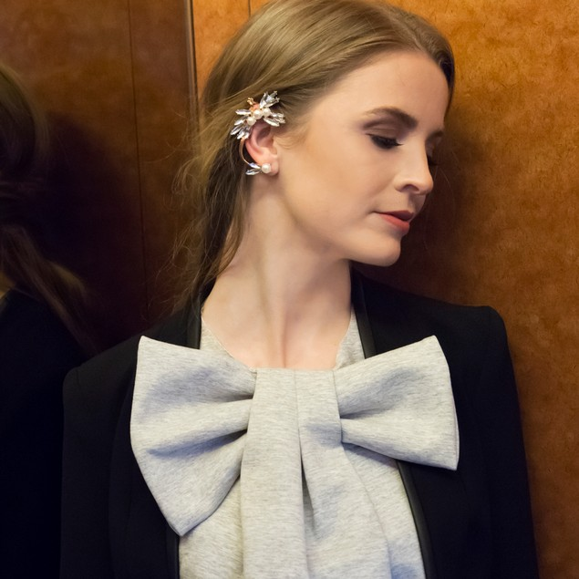 Pearl and Crystal Ear Cuff
