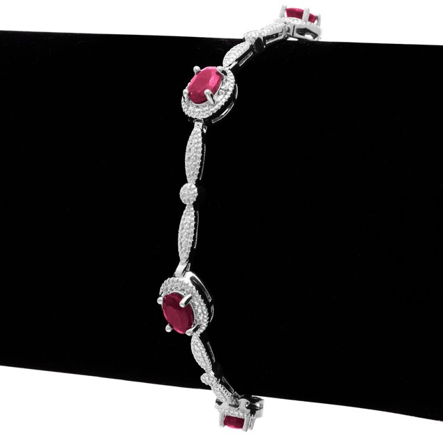 Classic Ruby and Diamond Bracelet
