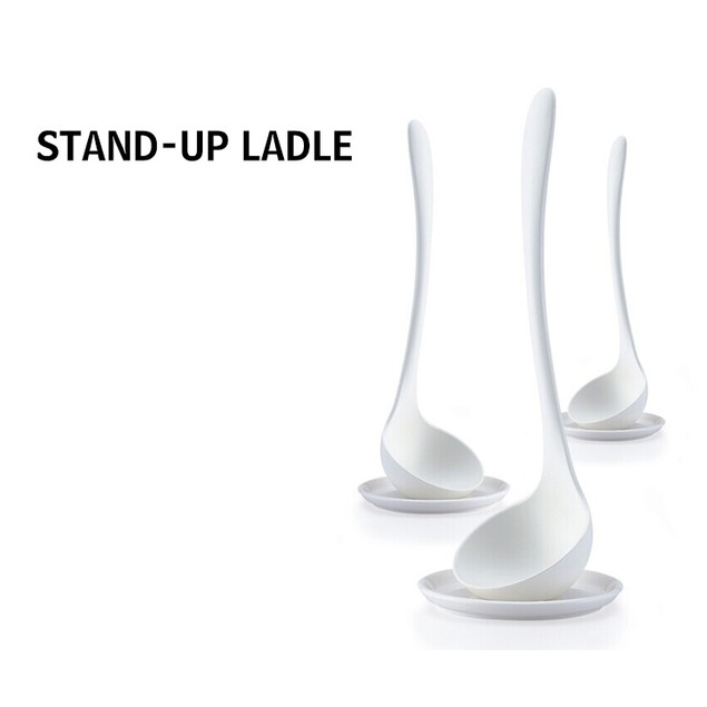 Stand-up Soup Ladle with Plate Holder