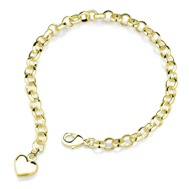 Designer Inspired Heart Charm Bracelet - 3 Colors