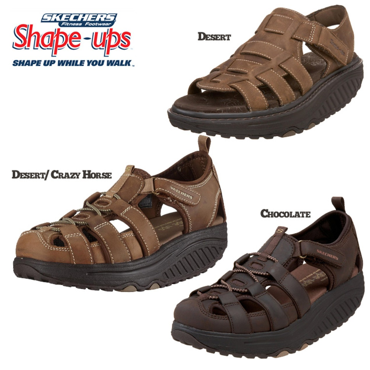 4b747a0f70ff Skechers Women s Shape Ups - Trim Step Walking Sandal   Strolling Ankle-Strap  Sandal